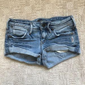Silver Women's Blue Toni Jean Shorts Sz 24